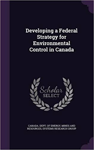 Book Developing a Federal Strategy for Environmental Control in Canada