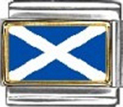 Scotland Photo Flag Italian Charm Bracelet Jewelry - New Italian Photo 9mm Charm
