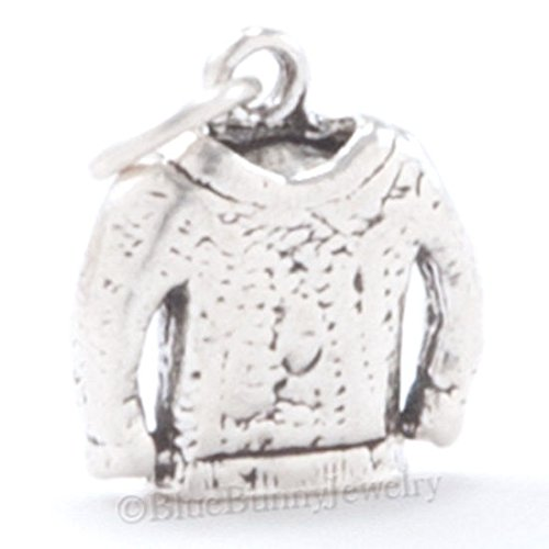 3D WINTER CHRISTMAS KNITTED SWEATER Sew Charm Pendant in 925 Sterling Silver Jewelry Making Supply Pendant Bracelet DIY Crafting by Wholesale Charms by Wholesale Charms