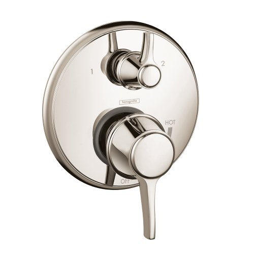 Hansgrohe 4449830 Metris C Pressure Balanced Valve Trim with Integrated Diverter, Polished Nickel