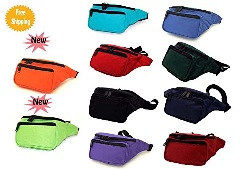 3-Zippered-CompartmentsClassic-Fanny-Pack-Hip-Pack
