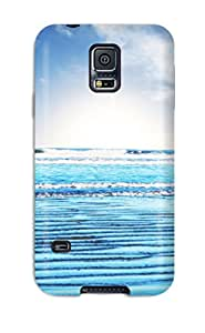 Galaxy S5 Hard Back With Bumper Silicone Gel Tpu Case Cover Beach
