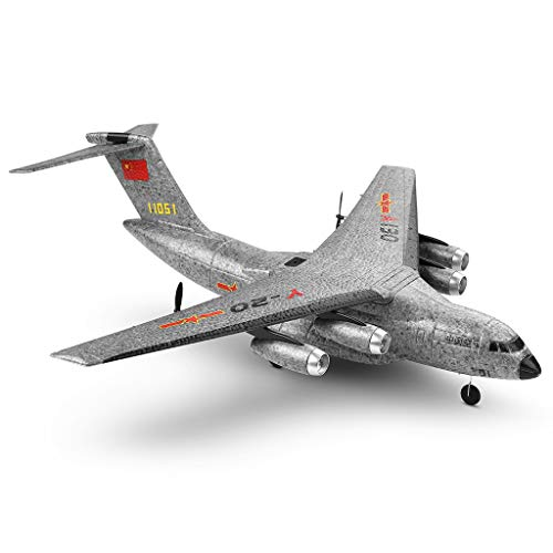(Really Go-us Direct XK A130 Xian Y-20 Model Military Transport Aircraft 2.4G 3CH Built-in Six-Axis Gyroscope Rc Airplane for Beginners to Fly 19.4×19.7×5.9 Inch (Gray))