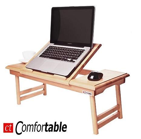 Mesa plegable para ordenador portátil o notebook Comfortable DUO tiroir. grabado gratuitet.