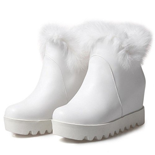 COOLCEPT Botines de Invierno para Mujer White