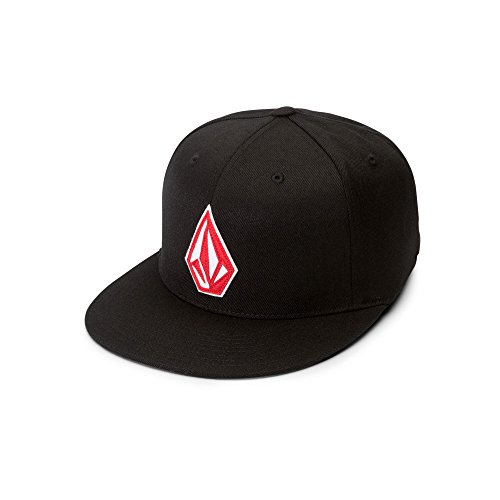 Volcom Men's Stone Stack Jfit Hat, Spark RED, -