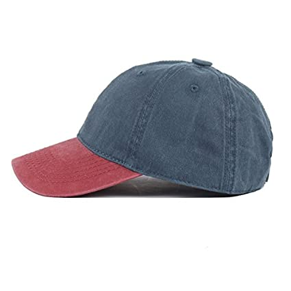 Amazon.com   ALWLJ Baseball Cap Women Hats for Men Solid Fashion Vintage  Plain Flat Washed Blank Cotton Hat   Sports   Outdoors c60a9769c64e
