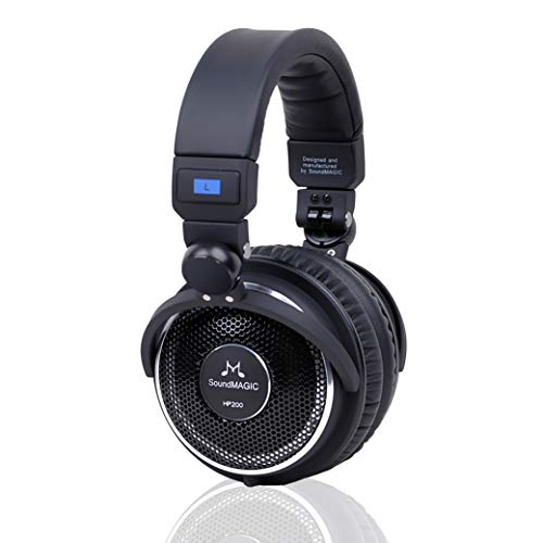 (SoundMAGIC HP200 Premium Full Size Open-Back Folding Headphones (Black))