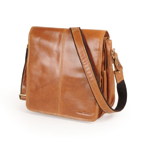 Greenburry Borsa Messenger, naturale (Marrone) - 554