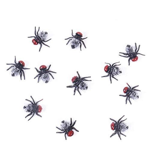 Fishnet - 10pc Fake Fly Funny Trick Joke Party Prank Gag Crap Flies Kidding Halloween Props S Cosplay Prop - Halloween Props Party Tree Toppers Nipple Star Small Stainless Garter -