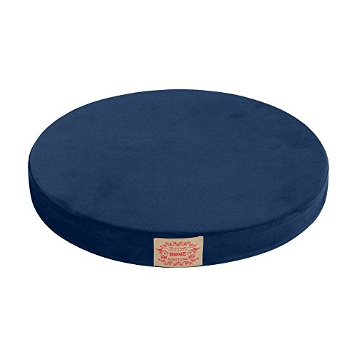 Shinnwa Polyester Supper Soft Cushion Round Memory Foam Seat Cushion Short Plush Lumbar Support Pillow Home Office Chair Pad Blue 16quot