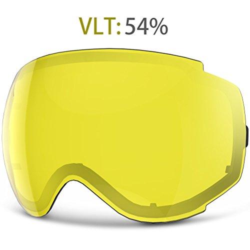 YAKAON Y Series Ski Goggles Snowboard Frameless Spherical UV Protection Anti-fog Lens for Men (Series Snowboard)