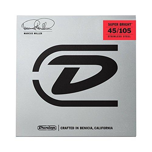 dunlop-dbmms45105-marcus-miller-super-bright-bass-strings-medium-045-105-4-strings-set