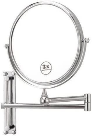 Nameeks Glimmer Round Wall-Mounted 3X Mirror AR7708, Chrome