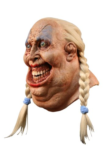 Ghoulish Costumes (Adult Fat Blonde Mask Creepy Woman Fatty Hamskins Costume Accessory for Halloween or Scary Party)