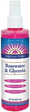 Heritage Store Rosewater & Glycerin, 8 Ounce