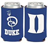 WinCraft NCAA Duke University Blue Devils 1 Pack 12 oz. 2-Sided Can Cooler