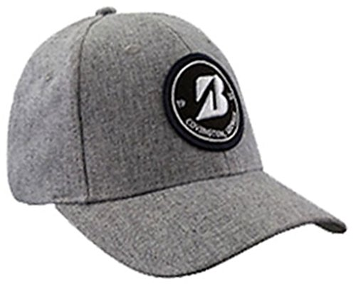 新しいBridgestone Golfヘザーグレーライフスタイルパッチ調節可能な帽子/キャップ