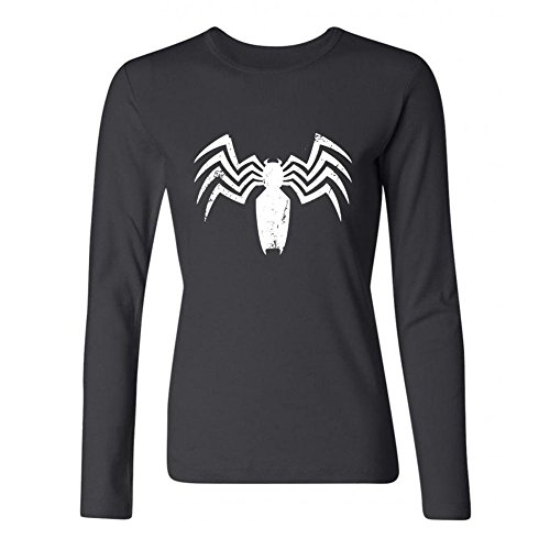 (STROFA Women's White Spider Long Sleeve T Shirt)