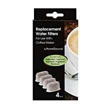 byHomeSource Coffee Water Filter with 4 Filters, Calphalon/Capresso/Cuisinart/Frigidaire/Kenmore