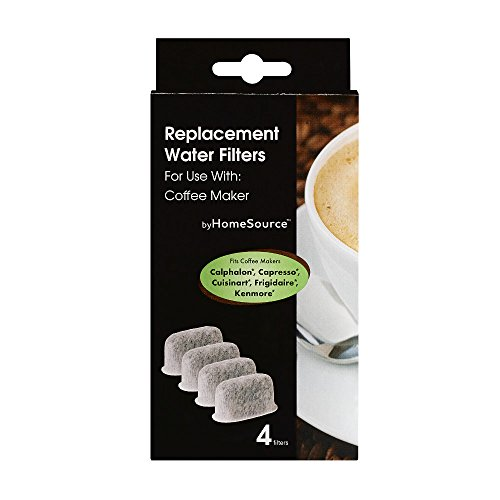 byHomeSource Coffee Water Filter with 4 Filters, (Electrolux Coffee Maker)