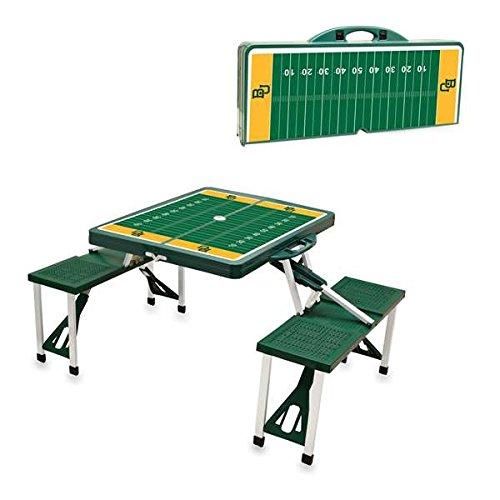 NCAA Baylor University Bears Digital Print Picnic Table Sport, Green, One Size