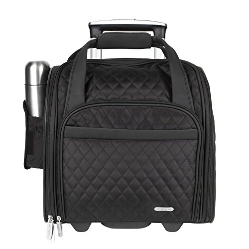 Travelon Wheeled Underseat Carry-On with Back-Up Bag, Black by Travelon