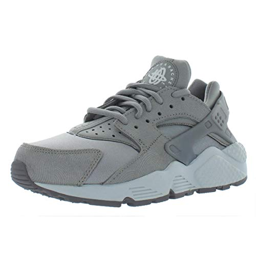 2b129134fa2e8 Nike Women Air Huarache Run Premium Suede (Medium Grey Off White-Flat Pewter)  Size 7.5 US