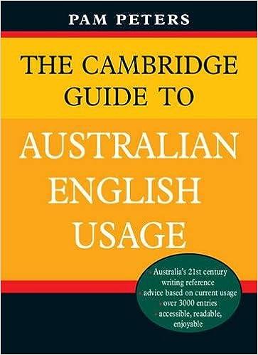 Amazon Com The Cambridge Guide To Australian English Usage 9780521702423 Peters Pam Books
