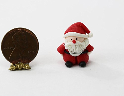 Bright Delights Dollhouse Miniature Santa Claus in Polymer Clay