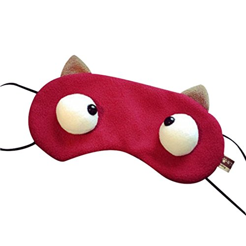 Scary Clown Makeup Ideas (Ikevan Cotton Eye Mask Fit Sleeping Relaxing and Traveling on Board Train & Plane. (Red))