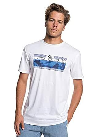 QUIKSILVER Erkek Tişört THEJUNGLESS M TEES, Beyaz, X-S (Üretici ölçüsü: XS)
