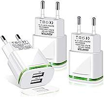 LUOATIP USB Ladegerät Stecker 2.1A/5V 3-Pack Ladeadapter 2 Ports Netzteil