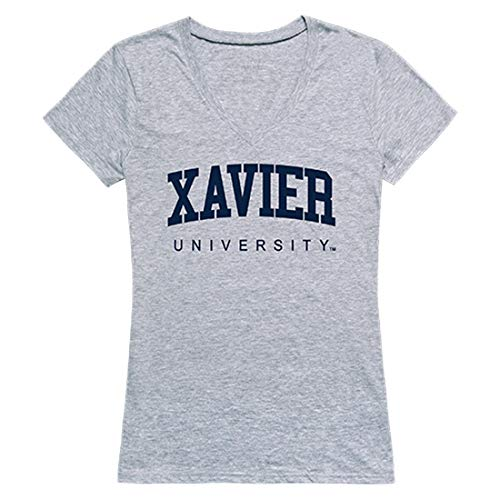 W Republic Xavier University Muskateers NCAA Game Day Tee Womens V Neck Shirt, Medium Heather Grey from W Republic