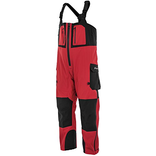 Frogg Toggs Pilot II Guide Bib, Red/Black, Size X-Large