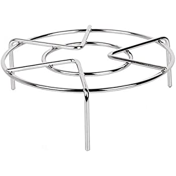 "Steam Rack,Steaming Rack Stand,Steamer Basket,Heavy Duty Stainless Steel Metal Multi-function By Meleg Otthon (5.9"" Diameter X2.7""High)"
