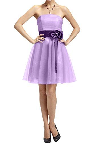 Lila Neu Kurz Ivydressing 2017 Cocktailkleider Festlich Tuell Abendkleid Partykleider Traegerlos zx5vZ5q