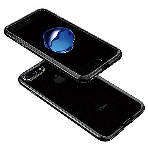 aa6b598c012 spigen Funda iPhone 7 Plus, [Neo Hybrid Crystal] Premium Bumper [Jet Black]  Clear TPU/PC Frame Slim Dual Layer Premium Funda Carcasa para iPhone 7 Plus:  ...