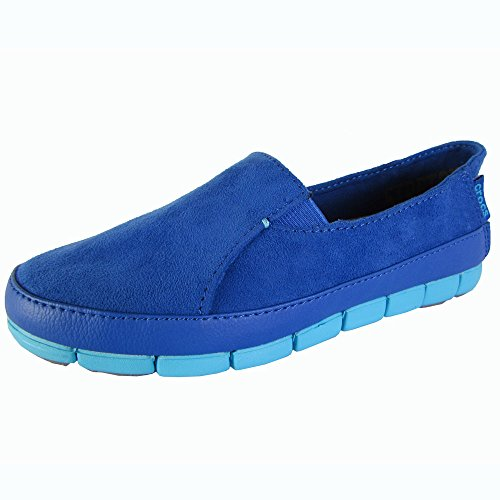 Crocs Womens Stretch Sole Microsuede Loafers Cerulean Blue / Electric Blue tVbRiXxs