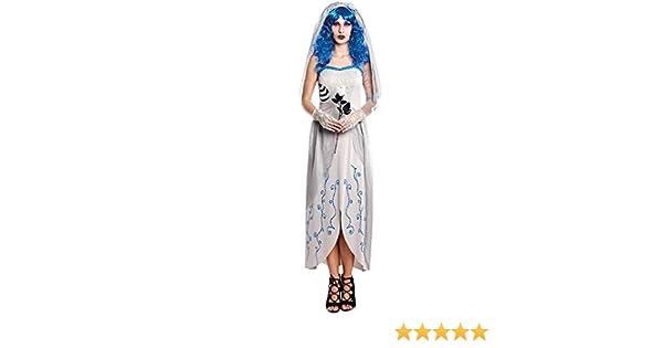 Disfraz de Novia Cadáver Blue Mujer (Talla S) Halloween: Amazon.es ...