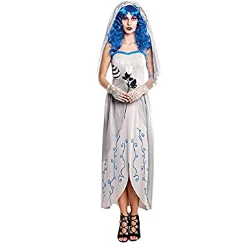 Disfraz de Novia Cadáver Blue Mujer (Talla M) Halloween: Amazon.es ...