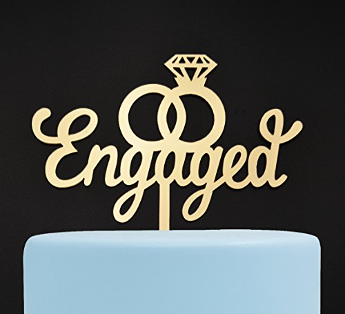 Thing need consider when find engagement cake topper gold?