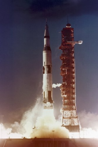 New 5x7 NASA Photo: Unmanned Launch of Apollo 4, Saturn V Rocket (4 Rocket Saturn)