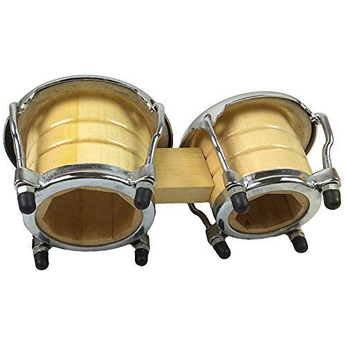 Professional Bongos with Fiberglass Shells and Chrome Hardware, Finish-NOT Made in China-Black Fiberskyn REMO Heads, Free-Ride Suspension System
