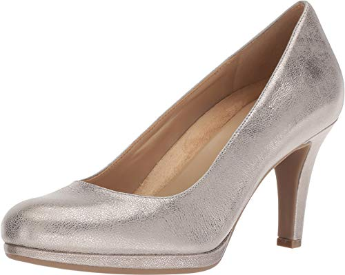 Naturalizer Women's Michelle Dark Silver Metallic Dust Leather 9 AA US