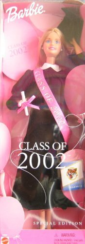 Mattel Barbie Class of 2002 Special Edition Doll w Black Grad Gown (2001) -