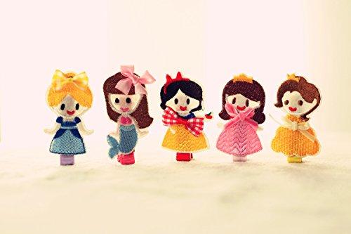 [Toddler Hair Barrettes] 5pc Toddler Princess Theme Hair Barrettes Set Alligator Toddlers Hair Clips for Girls