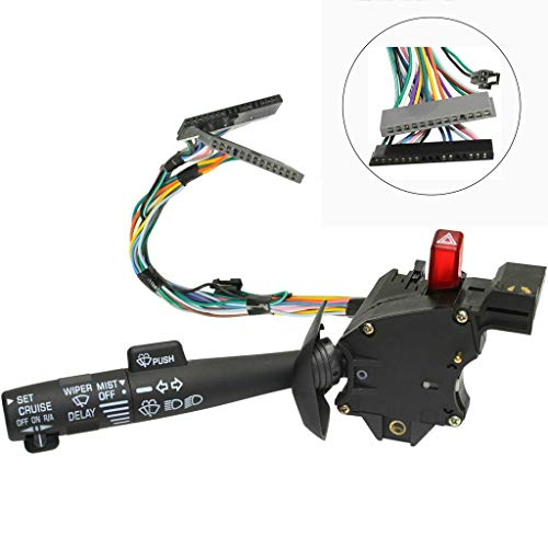 Autoday Turn Signal Switch Headlight Wiper Cruise Control High Low Beam Dimmer Lever Fit Cadillac Chevy GMC Car Trucks