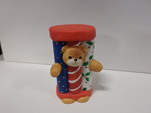 Bear Enesco Teddy - Lucy & Me Series (Enesco) **Teddy Bear Dressed as Tubes/Gift Wrap Figurine ** 206547