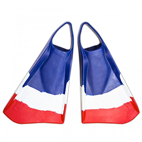Ally ERS4 Swim Fins, Blue/White/Red, Small